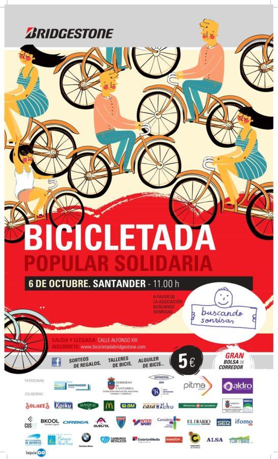 Cartel Bicicletada Popular Solidaria Bridgestone Santander