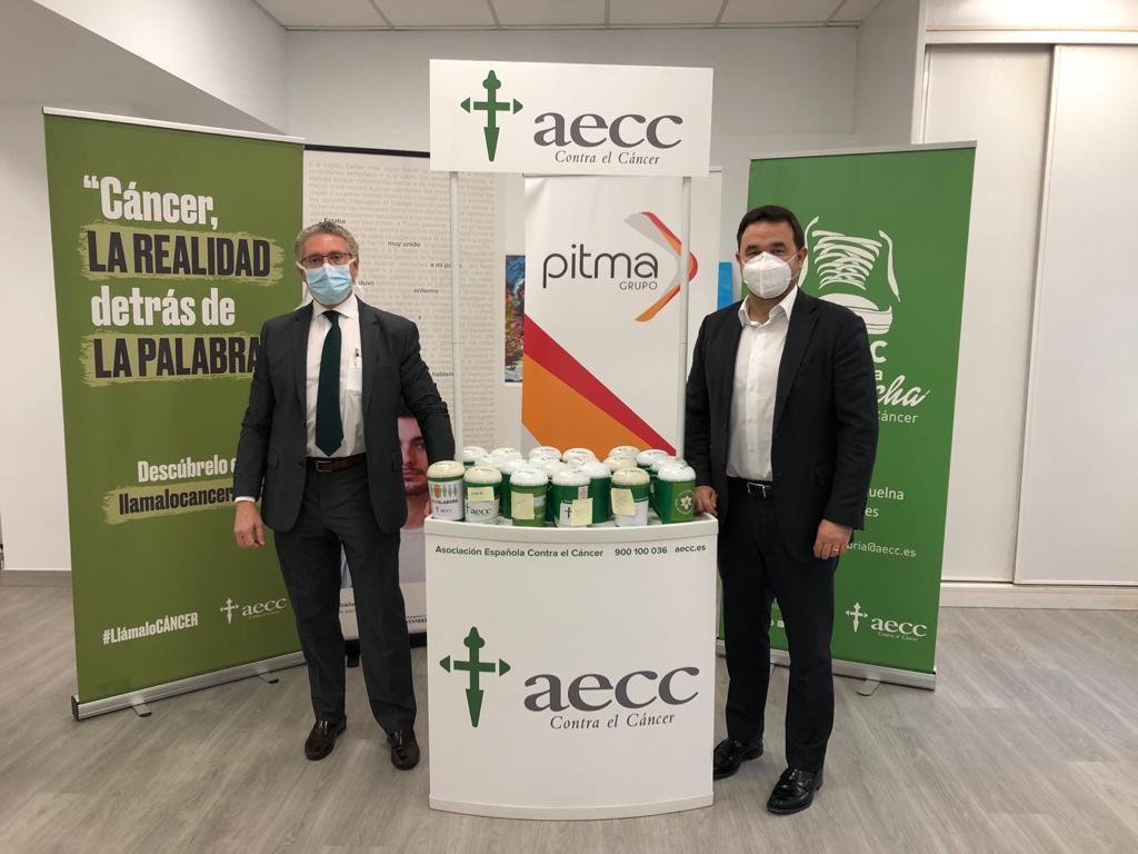 Recaudación de fondos a favor de la AECC entre los empleados del grupo PITMA