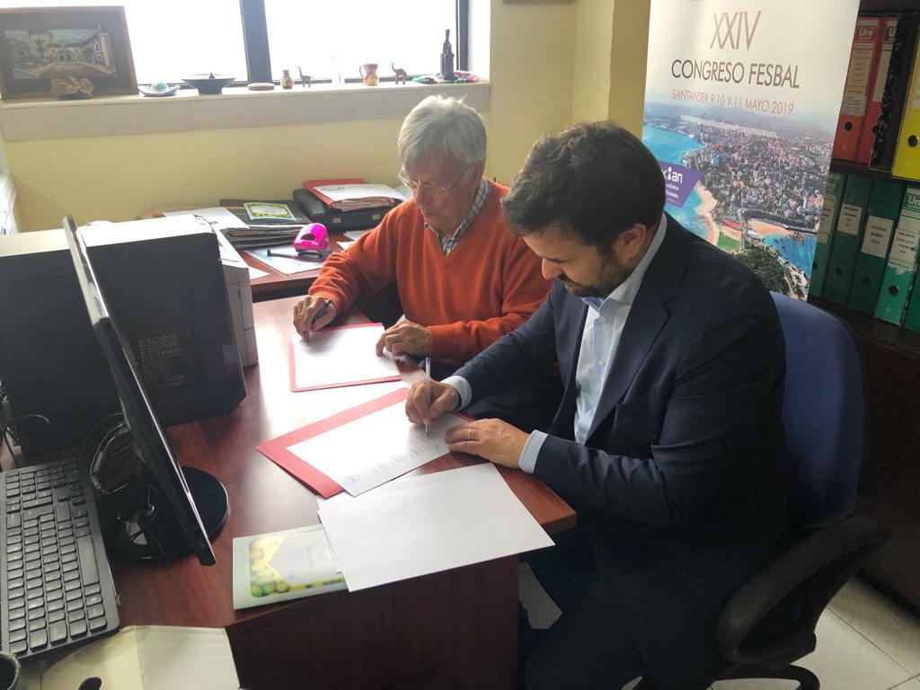 Firma de convenio Pitma - Banco de Alimentos de Cantabria