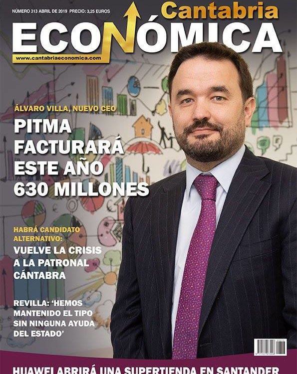 Álvaro Villa en la portada de Cantabria Económica